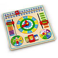 Развивающая игрушка Часы и календарь Viga toys (59872)
