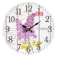 """Настенные часы """"Lilac"""" (34 см. МДФ), фото 1"""