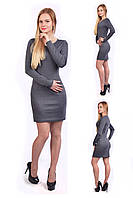 Классическое платье - серый