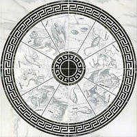 Декор-пано напольный(из 4-х шт) InterCerama ALON серый 10x10 071