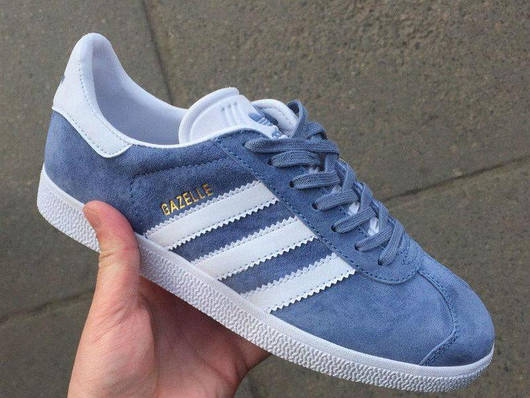 Кроссовки женские Adidas Gazelle Blue, адидас газель, реплика