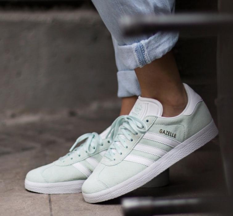 Женские Кроссовки Adidas Gazelle Ice Mint