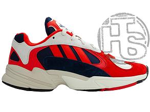 Женские кроссовки Adidas Yung-1 White/Red/Navy B37615-30