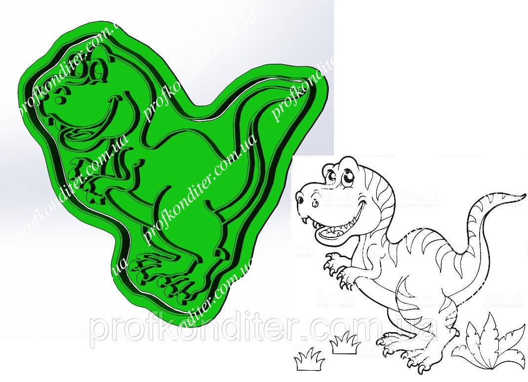 Пластикова вирубка з відбитком Динозавр №1, висота 12см