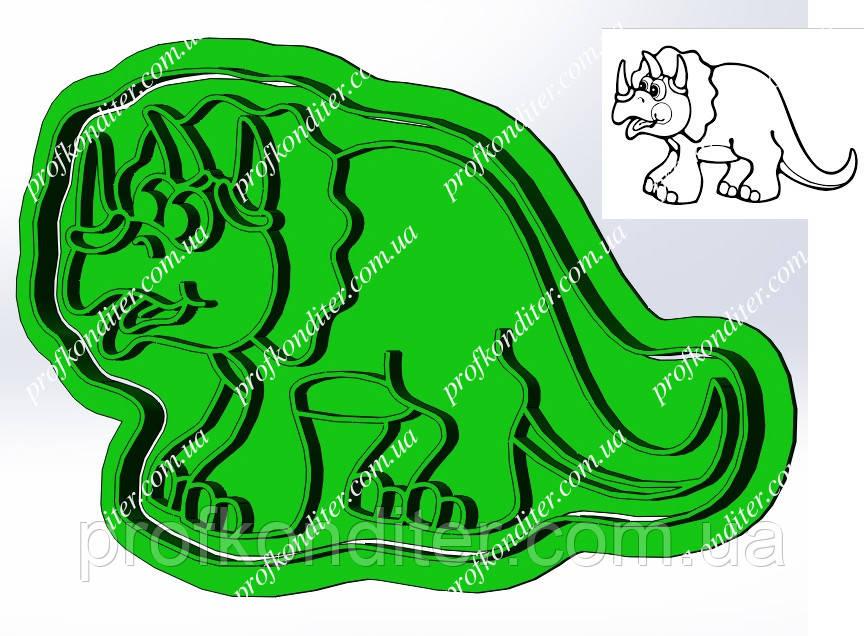 Пластикова вирубка з відбитком Динозавр №2, висота 12см