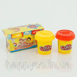 Детское тесто для лепки 2 цвета, в коробке