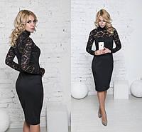 Платье гипюр комбинированное  42 44 46 48 50 Р, фото 1