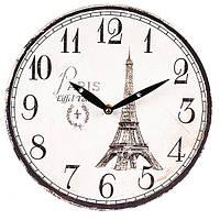 """Настенные часы """"I love Paris"""" (29 см. МДФ), фото 1"""