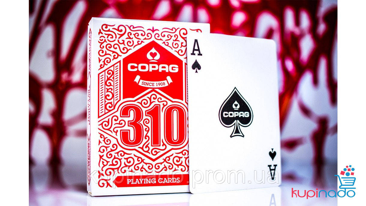 Copag 310 red deck