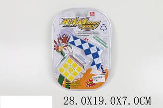 Кубік Рубік T1157-2 (1566365) (120шт/2) 3*3, + змійка, в слюді 28*19*7 см