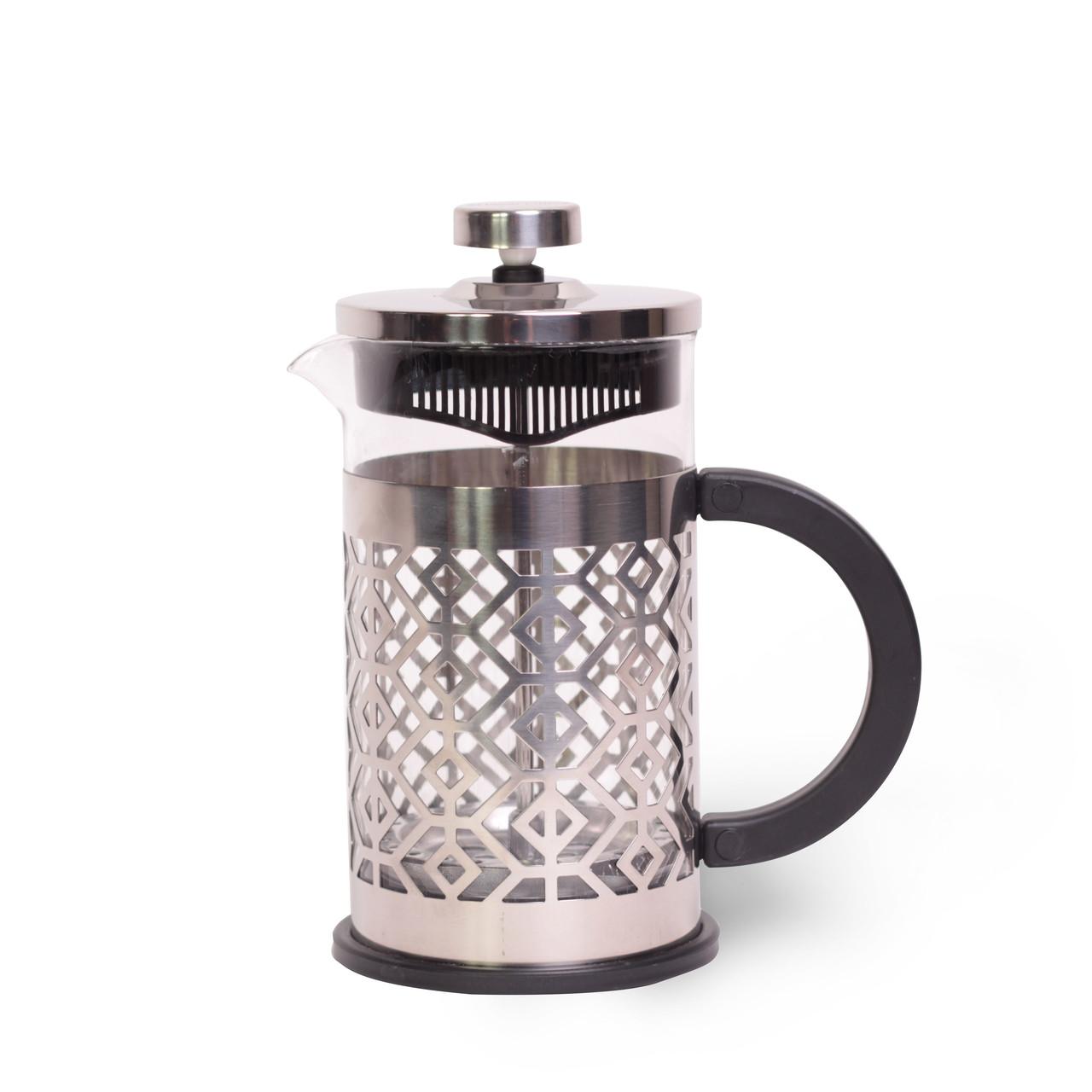 Красивый Френч-пресс Kamille 350 мл стеклянный заварник для чая и кофе