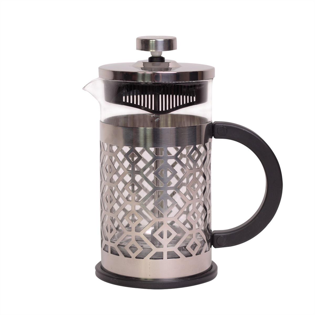 Красивый Френч-пресс Kamille 600 мл стеклянный заварник для чая и кофе