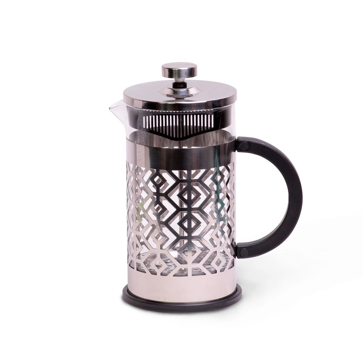Красивый Френч-пресс Kamille 1000 мл стеклянный заварник для чая и кофе