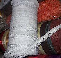 Резинка бельевая с узором(ажурная), ширина 1.5см, моток 92м,  белая