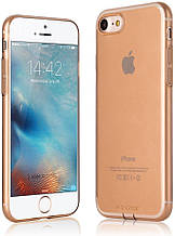 Чехол G-Case 0.5mm TPU Case (with anti-dust jack) for iPhone 7 - Transparent Gold (6923115105504)