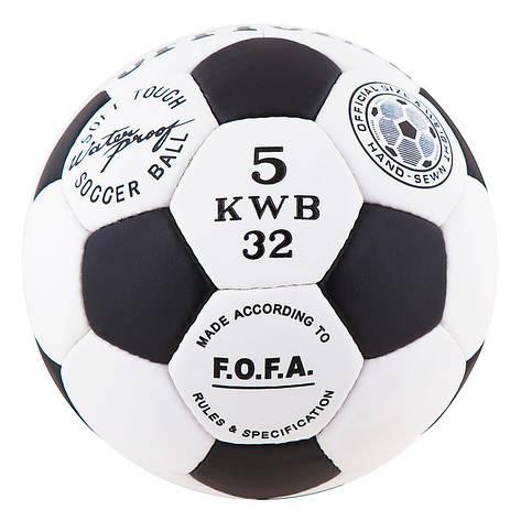 Мяч футбольный Grippy OFFICIAL, черно-белый, фото 2
