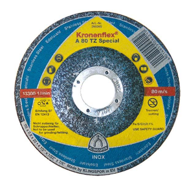 Круг отрезной по металлу 125х0,8x22,23мм, A 980 TZ GER, Klingspor