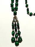 Колье с подвеской из Малахита прес., натуральный камень, цвет зеленый и его оттенки, тм Satori \ Sk - 0035, фото 3