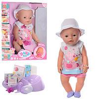 Кукла Пупс Baby Born (Беби Борн) 8020-462. 42 см, 9 функций, 9 аксессуаров