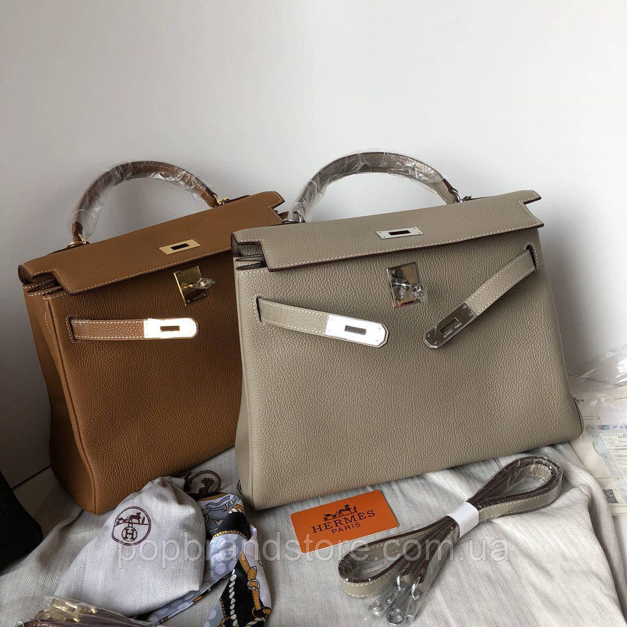 1f24d89df091 Женская сумка Гермес келли 32 см серая (реплика): продажа, цена в ...