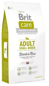 Корм Brit Care Adult Small Breed Lamb&Rice с рисом и ягненком для взрослых собак мелких пород, 3 кг