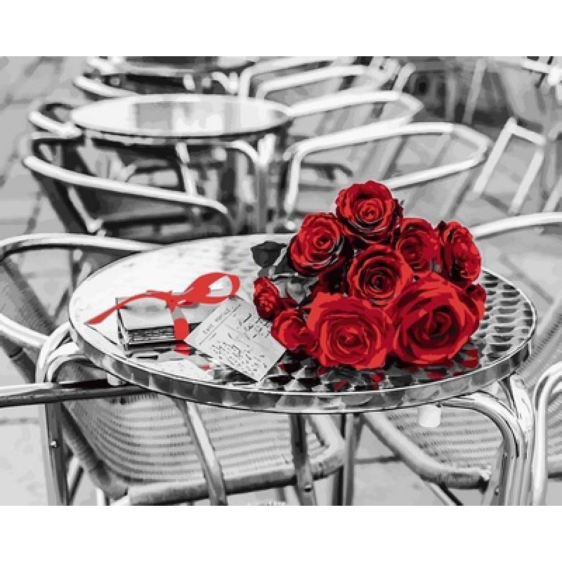 "Картина по номерам 50х40см Babylone Turbo ""Букет красных роз"""