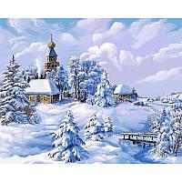 "Картина по номерам 50х40см ""Зима в деревне"""