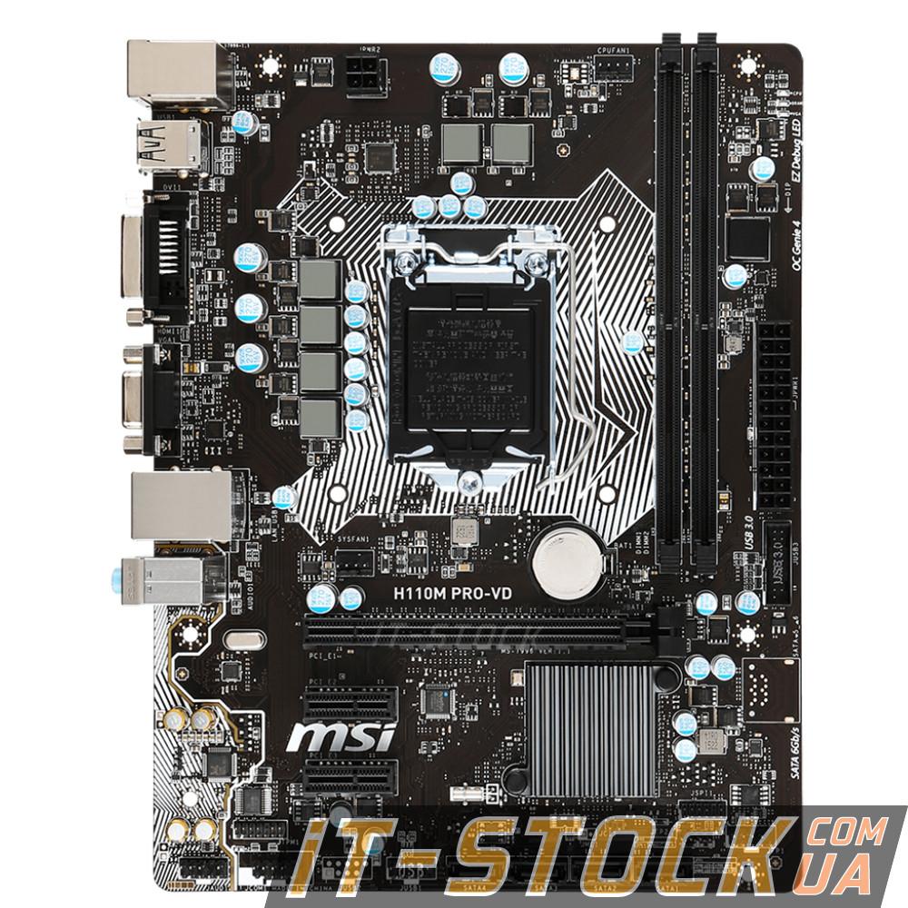Материнская плата MSI H110M PRO-VD (s1151/H110/2xDDR4)