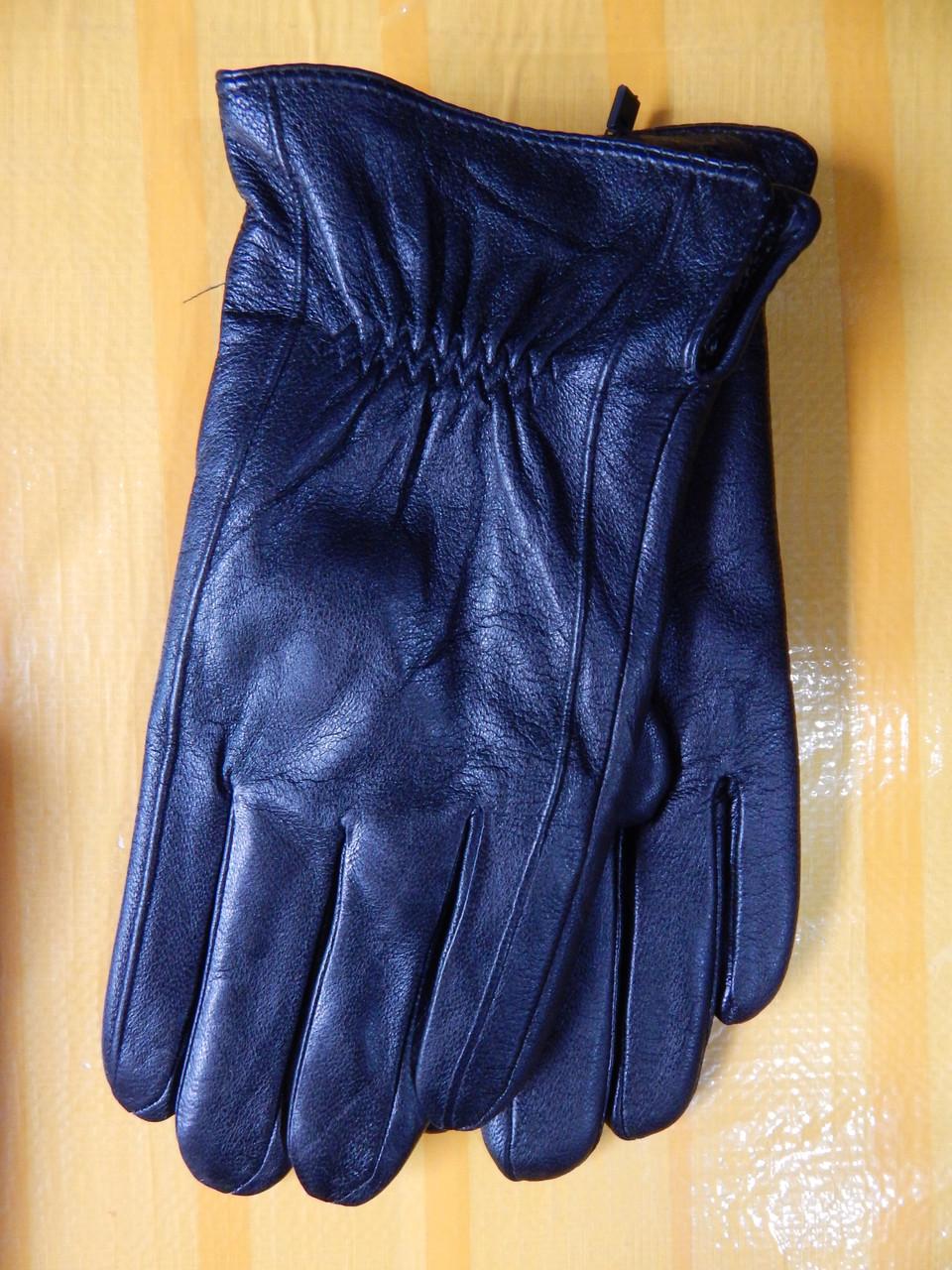 Великан Мужские кожаные перчатки на махре оптом от 5 пар
