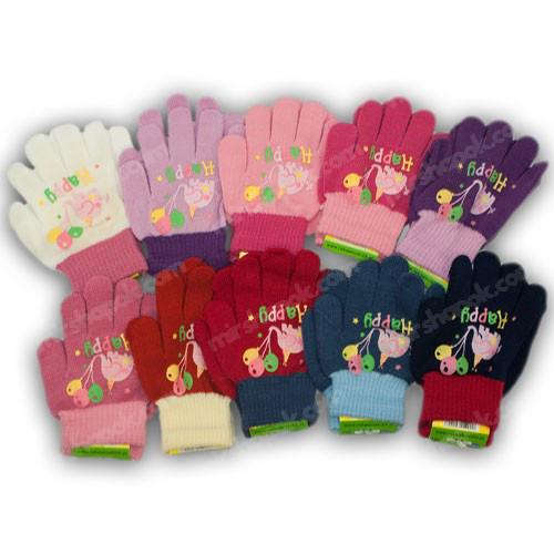 ОПТ Перчатки детские, р. 13 (2-3 года), производитель Польша (12шт/набор)