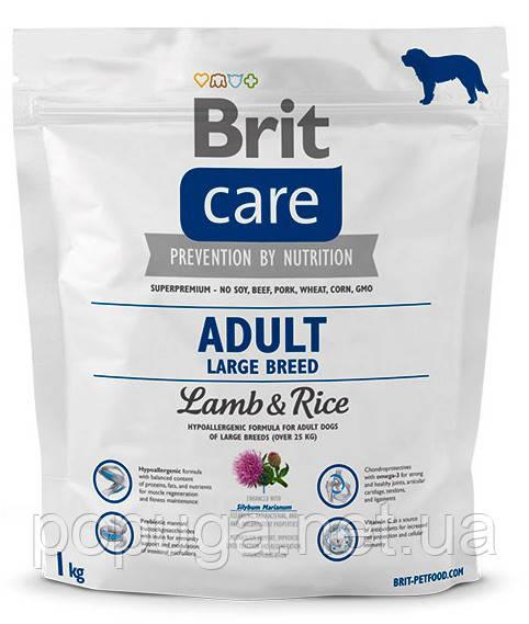 Корм Brit Care Adult Large Breed Lamb & Rice для взрослых собак крупных пород с ягненком и рисом, 3 кг