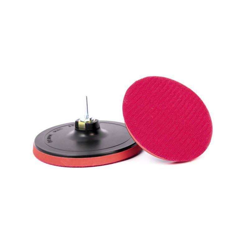 Платформа-диск з липучкою ф 125мм х М14, товста + шток (15/60)