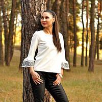 Трикотажная блуза с вышивкой, фото 1