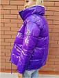 Курткаженская, наполнитель-холофайбер, цвет-фиолетовый, красный, чёрный, фото 6