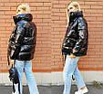 Курткаженская, наполнитель-холофайбер, цвет-фиолетовый, красный, чёрный, фото 8