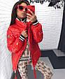 Курткаженская, наполнитель-холофайбер, цвет-фиолетовый, красный, чёрный, фото 3