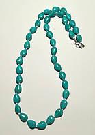 Бусы из Бирюзы, натуральный камень, цвет голубой и его оттенки \ Sk - 0041