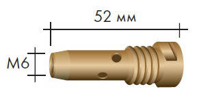 Вставка для наконечника M6/М16/52мм, 014.D870, RF 36 GRIP, Abicor Binzel