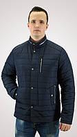 Мужская куртка демисезонная / весенняя (Синня/черная)
