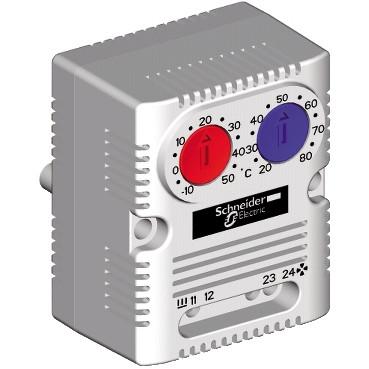 Подвійний термостат вентилятор+нагрівач 0...60 °C NC+NO NSYCCOTHD
