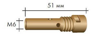 Вставка для наконечника M6/M14/51мм, 004.D624.5, ABIMIG® GRIP A / ABIMIG® AT 255, Abicor Binzel