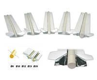 Подкладка керамическая A-Weld цилиндрическая ф8мм, L=565мм, сегмент L=30мм, WT-901-8