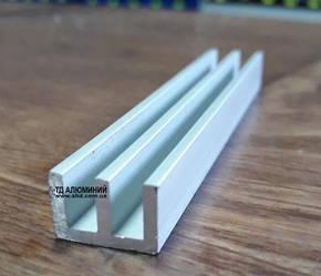 Ш-образная направляющая из алюминия 19х10х2 анод