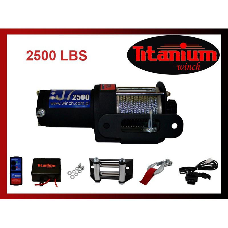 Лебедка электрическая для квадроциклов Titanium J7 2500 lbs 12V, фото 1