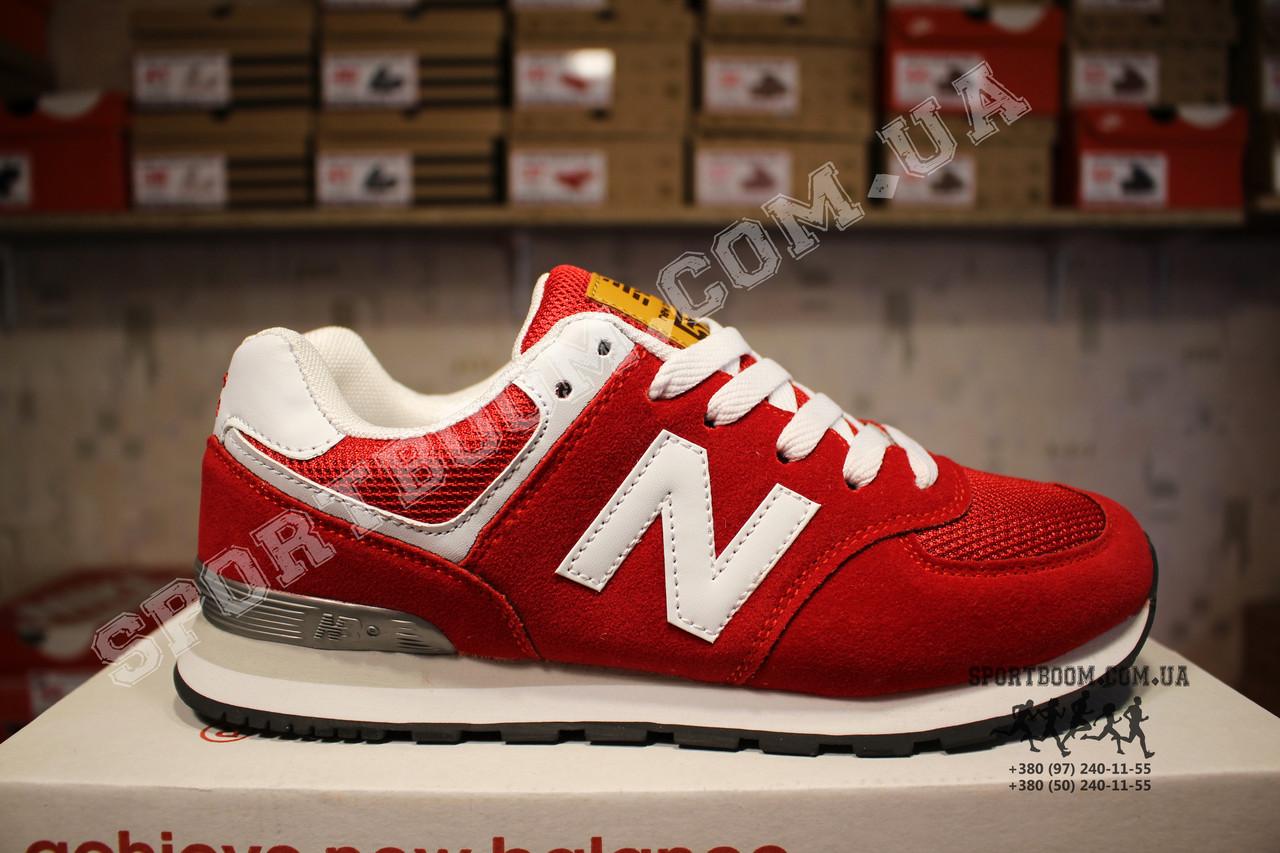 Кроссовки New Balance 574 Red White Красные женские реплика  699 грн ... 8172129a56231