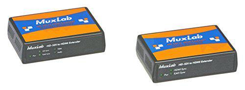 Комплект MuxLab 500715 конвертора/удлиннителя сигнала 3G/HD-SDI в HDMI по кабелю Cat5e 100м
