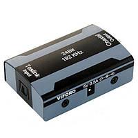 Конвертер Ligawo 6533002-50 из цифрового оптического Toslink в цифровой коаксиальный RCA (S/PDIF), фото 1