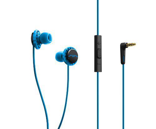 Наушники вставные Sol Republic Relays Sport 1131-36 с микрофоном и 3-х кнопочным пультом, голубой