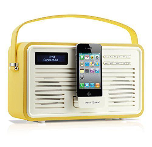 Цифровое радио Doc-станция Apple VIEWQUEST Retro ColourGen, DAB/DAB+/FM, 30-pin-Doc, желтый