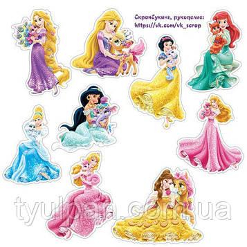 Вафельная картинка на торт принцессы